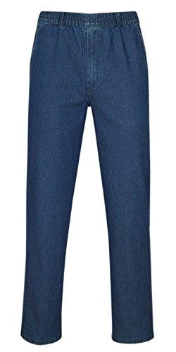 T-MODE Herren Jeans Stretch Schlupfhose Schlupfjeans ohne Cargo-Taschen-Blue-L