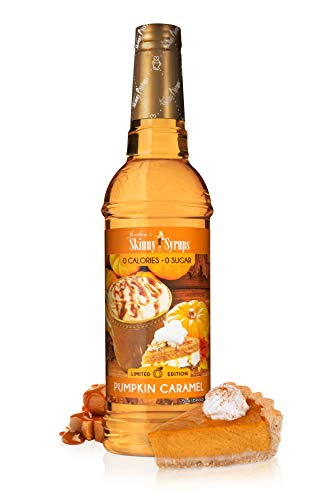Jordan's Skinny Syrups | Sugar Free Pumpkin Caramel Syrup | Healthy Flavors with 0 Calories, 0 Sugar, 0 Carbs | 750ml/25.4oz Bottle