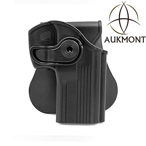 Gazelle Trading Aukmont Thumb Locking Tactical Pistol Holster Black (Fit for All Most Pistol)