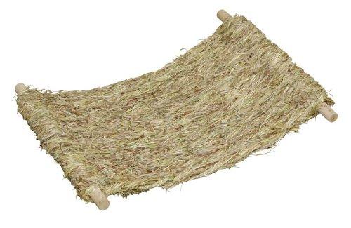 Kerbl 82797 Kaninchen Grashängematte Siesta mit Holzgestell, Ersatzhängematte