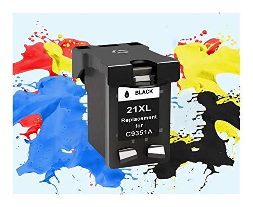 ZIJ Reemplazo rellenados de Cartuchos de Tinta for HP 21XL for HP 22 21 for HP21 Deskjet F2180 F2280 F4180 F4100 F2100 F2200 (Color : 1bk)