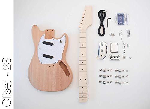 The FretWire DIY Electric Guitar Kit (Offset 2 Single Coil)