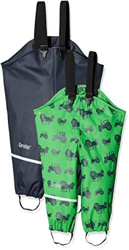 CareTec 550276 - Pantalon De Pluie - Pack de 2 - Bébé garçon - Multicolore (Green 9740) - 86