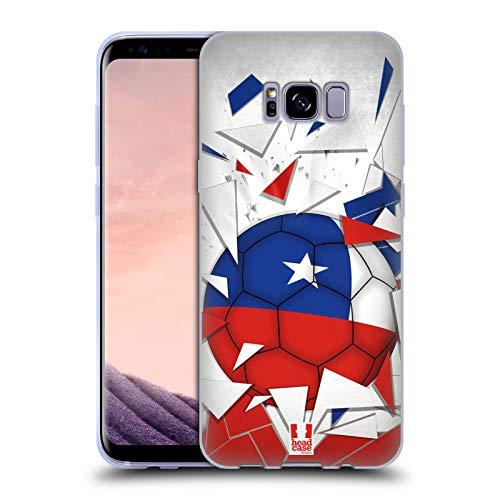 Head Case Designs Chile Saltos de Fútbol Carcasa de Gel de Silicona Compatible con Samsung Galaxy S8+ / S8 Plus