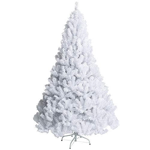 MIMI KING Arbre De Noël Blanc Neigeux Blanc Classique Sapin De Noel Non Éclairé pour Le Décor De Centre Commercial À La Maison,4.9Feet