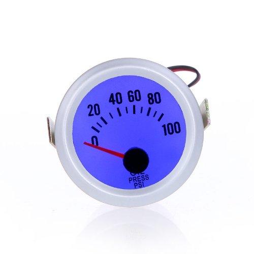 """KKmoon Oil Pressure Meter Gauge with Sensor for Auto Car 2"""" 52mm 0~100PSI Blue LED Light"""