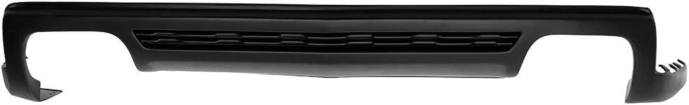 Rear Bumper Diffuser Compatible With 2010-2013 Chevy Camaro   ZL1 Style PP Unpainted Black Rear Bumper Lip Spoiler By IKON MOTORSPORTS