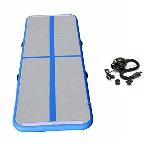 KNOWSTAR Inflatable Gymnastics Tumbling Mat Air Floor Air Track Training Board for Home Use, Hiking,...