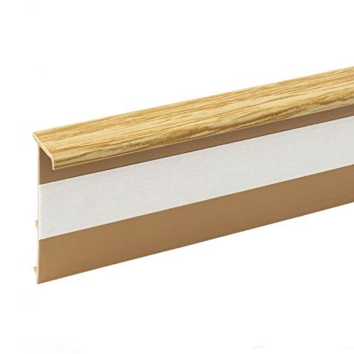 2,5m TEPPICHLEISTEN 50mm KIEFER Kettelleisten aus Kunststoff Fussbodenleiste Laminat Dekore Parkett Scheuerleiste