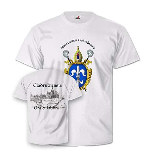 Cladrubiensis Glaube Kloster Christ Beten Kirche Mönch Bier T Shirt #26859, Größe:Herren S, Farbe:Weiß