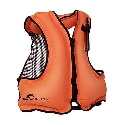 Chalecos de Snorkel, Chalecos para Adultos Kayak Traje de Kayak Natación Chaleco Salvavidas para Snorkel, Remo y Otros Deportes acuáticos de bajo Impacto (Adecuado para: 88-200 Libras),Orange