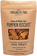 Crafted by Humans Loved by Dogs Portland Pet Food Company Pumpkin Biscuit Dog Treats, 5oz