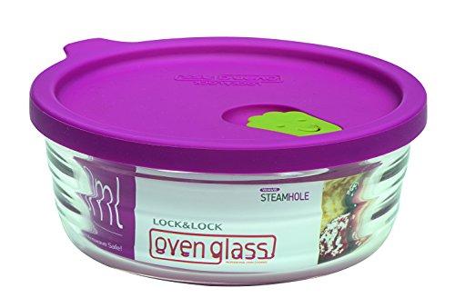 Lock & Lock LLG751 Ovenglas für Mikrowelle und Ofen, Glas, tranparent, 132×54mm