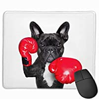 ボクシング 犬 フレンチブルドッグ マウスパッド 運びやすい オフィス 家 最適 おしゃれ 耐久性 滑り止めゴム底付き 快適操作性 30*25*0.3cm