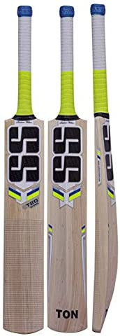 SS T20 Storm Kashmir Willow Cricket Bat with Tennis Cricket Ball and Bat Face Tape Bat Cover product image