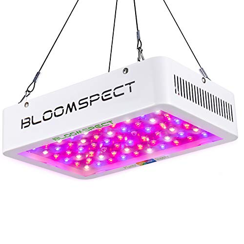 BLOOMSPECT Upgraded 600W LED Grow Light with Daisy Chain, Dual Chips Full Spectrum Plant Grow Lights for Indoor Hydroponics Greenhouse Plants Veg and Flower (60pcs 10W LEDs)