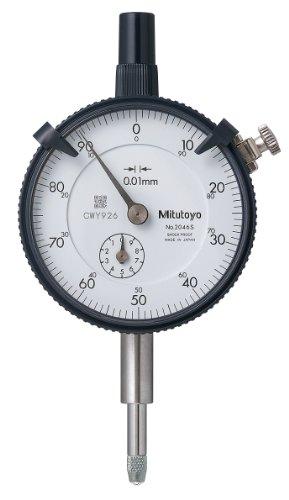 MITUTOYO 2046S Messuhr mit Öse, DIN 878, Messbereich 10 mm, Ablesung 0.01 mm
