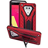 Cell Phone Case Compatible with LG V20 Case,Funfe Heavy Duty Built-in Kickstand Protective Cases for LG V20 Dual Layers Armor Shock Absorption Impact Resistant Rugged Stand Back Cover (Red)