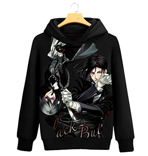 Gumstyle Anime Black Butler Hooded Sweatshirt Adult Cosplay Sportswear Pullovers 1-L