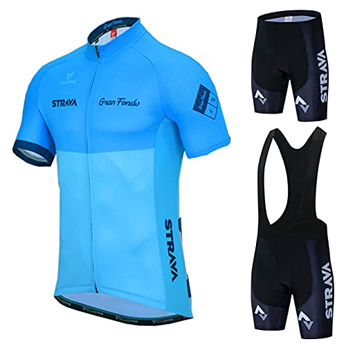 oneforus Cycling team short-sleeved Maillot Ciclismo men's jersey summer breathable suit SetMen jersey, cycling shirt, quick-drying mountain bike MTB shirt, racing cycling suit,B-XSmall