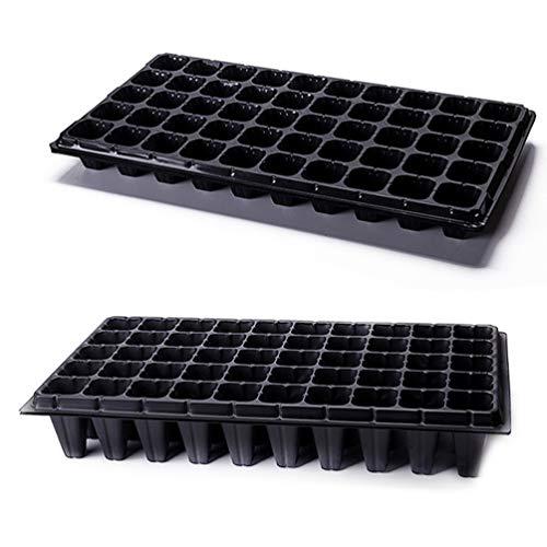 Cabilock 2 Piezas Bandeja de Inicio de Semillas Bandeja de Plantación de 50 Células Bandeja de Cultivo Bandeja de Germinación de Jardinería de Plástico para Plantar Plántulas Propagación