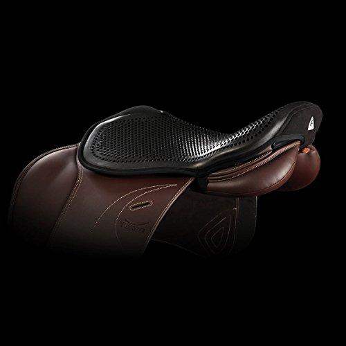 Acavallo, imbottitura per sedile, in gel, 10 mm, colore nero, taglia L