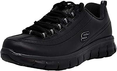 Skechers for Work Women's Sure Track Trickel Slip Resistant Work Shoe, Black, 9.5 XW US