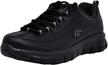 Skechers for Work Women's Sure Track Trickel Slip Resistant Work Shoe, Black, 5.5 XW US