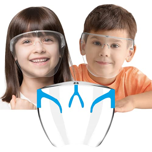 Sister Full Face Shield For Kids Above 6 Years | BLUE Anti-fog, Washable, fits Perfectly | POLYCARBONATE HD VISION Shield By Weekend Inc.