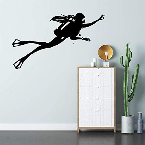 yaonuli Grand Plongeur décoration de la Maison Sticker Mural Chambre Chambre d'enfant Maternelle décoration décoration de la Maison 28x54 cm
