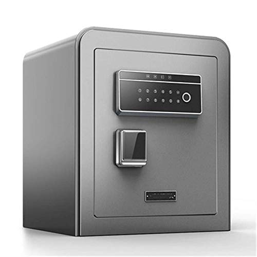 Home Accessories Safe Box Household Small Anti-theft Safe Fingerprint Password Unlock 45cm Jewelry Box All Steel Office In-wall Wardrobe Bedside Table For home and office (Color : Gray, Size : 450x