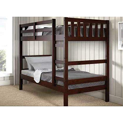 Donco Kids Austin Bunk Bed, Twin/Twin, Dark Cappuccino
