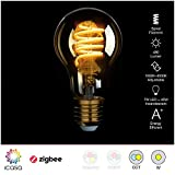 2 pack icasa 60mm Spiral Filament LED Lampe   abstimmbares weißes Licht  ...
