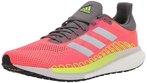 adidas Women's Solar Glide ST 3 Running Shoe, Signal Pink/Silver/Green, 8