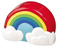 Mit der wunderschönen Regenbogen Spardose macht das Sparen Spaß Die Sparbüchse mit den niedlichen Details, wie den beiden Wolken ist ein toller Hingucker - nicht nur im Kinderzimmer Die liebevoll gestaltete Verpackung macht es zum idealen Geschenk fü...