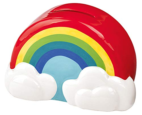 Moses. 30552 Bunte Regenbogen Spardose | Sparschwein in Regenbogenform | Für Kinder