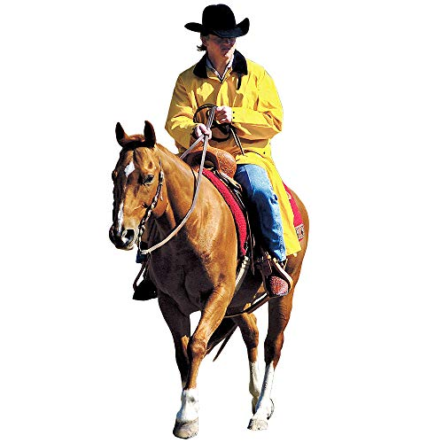 Double-S Mens Adult Saddle Slicker M Yellow