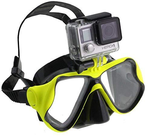 Navitech grüne Tauchmaske mit Halterung Kompatibel mit iSAW Edge/Wing/AIR