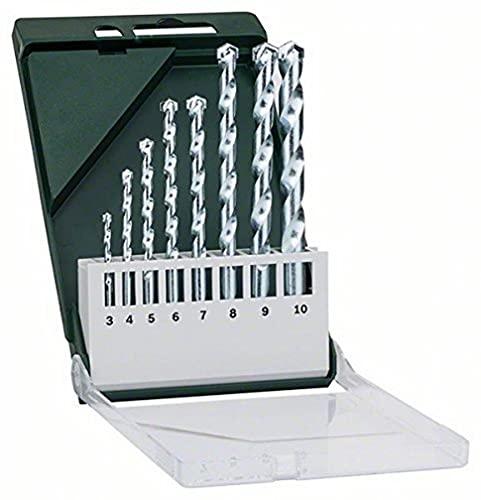 Bosch 2609255462 Masonry Drill Bit Set, 8 Pieces