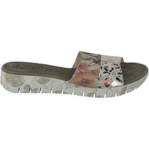 MUSTANG 1322-702 Schuhe Damen Pantoletten Clogs Leder, Größe:39 EU, Farbe:Grau