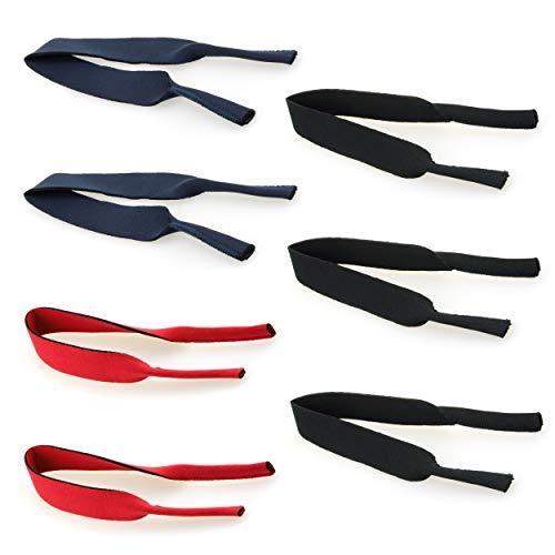 Cinta para gafas de neopreno en paquete de 7 - Flotable - Cordón para gafas elástico de aprox. 38 cm de largo (mix)