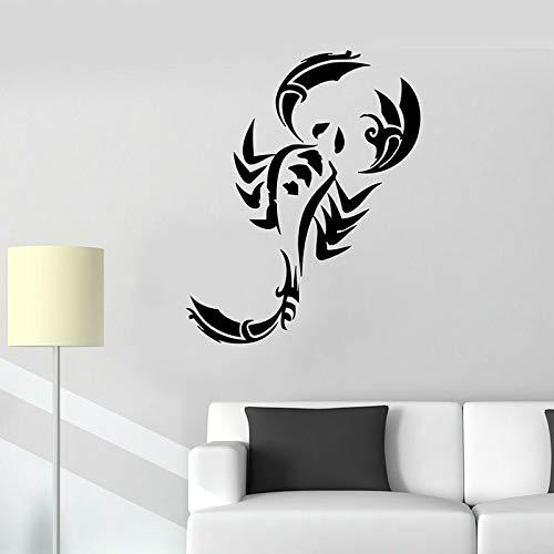 Mural de pared de escorpión, cangrejo, cangrejo, mar, océano, animales, nevera, vinilo, pegatinas para ventana, mariscos, restaurante, cocina, decoración del hogar E631_Black
