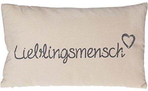 Kissen Knuddelkissen »Lieblingsmensch« Liebeserklärung Geschenk Eyecatcher (Beige)