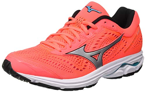 Mizuno Wave Rider 22 (w), Women's Running, Blue (Blueatoll/White/Georgiapeach 01), 4.5 UK (37 EU)