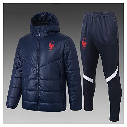 caijj Neue Herren Fußball Uniform Geschenk Baumwolle Kleidung Fußball kältesicher Fußballfan kältesicher Anzug Fußball Hoodie männlich-B5-XXL