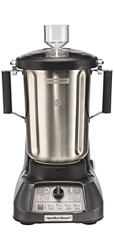 """Hamilton Beach Commercial HBF1100S Culinary Blender, 1 gal/4 L, Powerful Precision with Great Results, 19.25"""" Height, 12"""" Width, 15"""" Length, Grey"""
