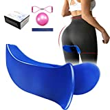 Sunpro Pelvic Muscle Hip Trainer Super Kegel Exerciser and Inner Thigh Training Equipment Buttock Muscle Strengthening Device Correction Beautiful Buttocks for Women (Blue)