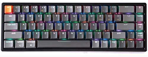 Keychron K6 Bluetooth Wireless/Wired Gaming Mechanical Keyboard - Compact 68 Keys Aluminum Frame Gateron Red Switch RGB Backlit for Mac Windows
