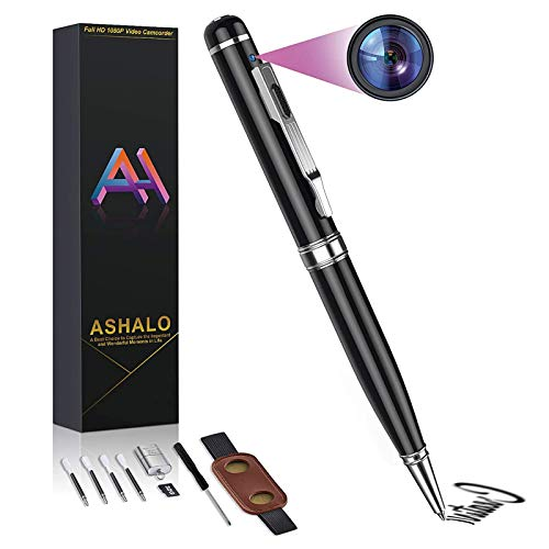 Hidden Spy Camera Pen, HD 1080P Portable Digital Video Recorder and Photo Snapshot Cam, Suitable for Daily Life and Business, 32G SD Card Included (Updated Version)