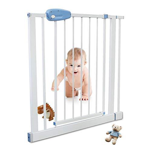 Leogreen - Barrière de Sécurité Enfant Barrière de Sécurité Extensible de 81cm à 94 cm, Verrouillage Facile avec Une Main